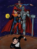 Reign of the Supermen -color version by maxpa27