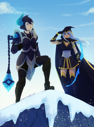Sejuani and Ashe by nymre