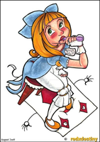 Alice takes a swig by neoreflection