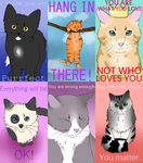cat stickers by catshlt