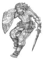 Buhovert The Victorious - Halfling Paladin by s0ulafein