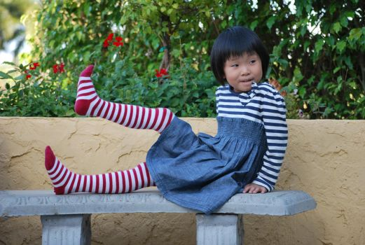 Striped Stockings 10 by SBG-CrewStock