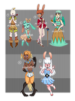 (CLOSED) AUCTION: Eggs, birbs and buns by Ashen0ne