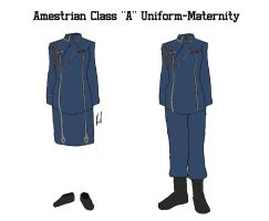 Amestrisian Class A Uniform: Maternity by docwinter