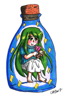 [L+D Twins] Darcie in a Bottle by CassyHattori36