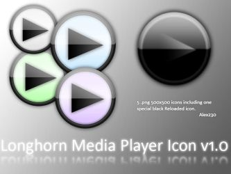Longhorn Media Player icons by Alex230