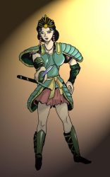 Asian Female Warrior by shadowarriors