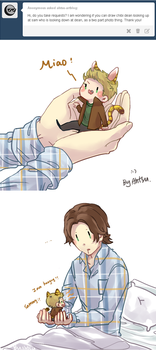 [SPN] Sam and Tiger!Dean by Ahtsu