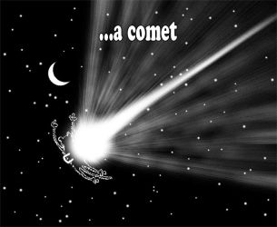 Monkey stapled to a comet. by PaulBangerter