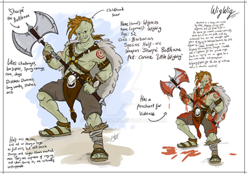 Dungeons and Dragons ref sheet by TheMushman