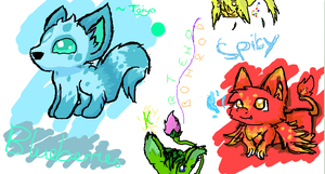 iScribble random animals by TaiyoPrower