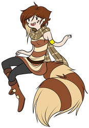 Erinia the Furret (AT Style) by Substrain-Seven