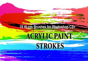 18 Acrylic Paint PS Brushes by fiftyfivepixels