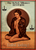 Star Wars -  Leia Organa Pin-up by Aste17