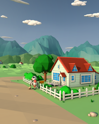 Pallet Town Blues - Low Poly by CallMeGav