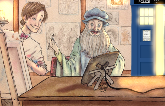 The Doctor pays a visit to Da Vinci