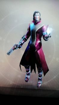 Rose colored Warlock by ZhaneAugustine
