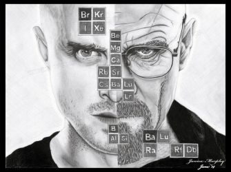 Double Breaking Bad portrait by TheJinMu