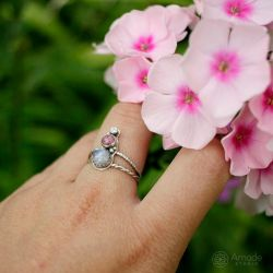 Amade Pink And White Ring by ggagatka