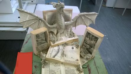 There and back again - Hobbit book sculpture 1 by lizzie9009