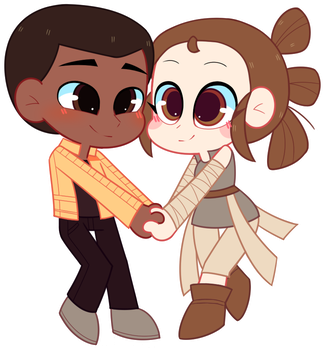 COM: Rey and Finn by Riouku