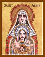 St. Anne icon by Theophilia