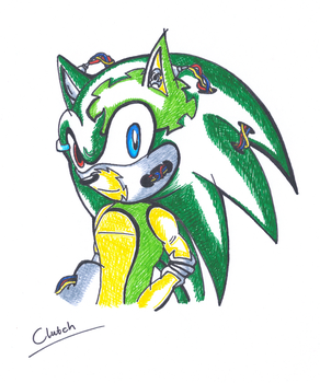 Clutch the Cyber Hedgehog by silvah-princess