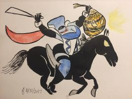 Inktober No. 31 Headless Horsewoman Rides Again by SteLo-Productions95