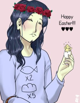 Jesus! Happy Easter! by Xarra-Lotus