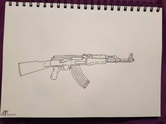~ak47 Drawing~ by Emzroxs