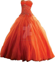 Orange Gown by Spyderwitch