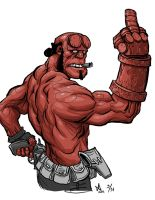 Hellboy by quasilucid