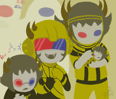 Homestuck - Sollux, Mituna and Psiioniic Captor by ziki-zai