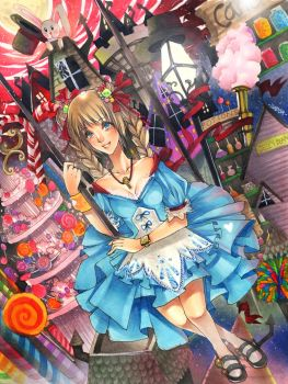 Alice in CandyLand by Jad-Ardat