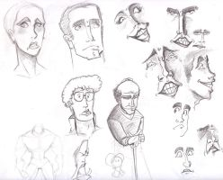 Face Sketches 2 by GeorgeRottkamp