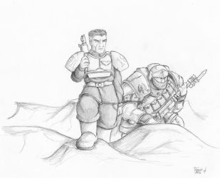 Trencher and Guardsman by CurseReaper