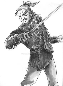 Crappy frame of Geralt by OFFO
