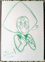 Inktober - Peridot pen sketch by JenHedgehog