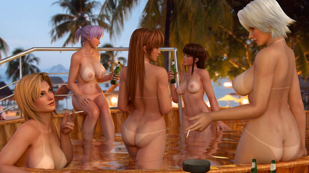 Dead or Alive HDM Bathtub by RadiantEld