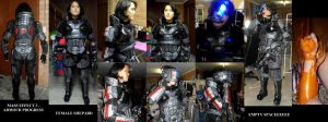 ME3 Shepard Armour cosplay update by Lily-pily