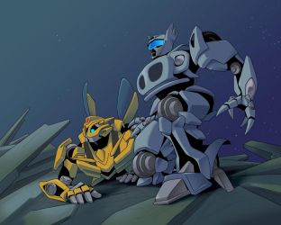 Bumblebee and Jazz by yo-3