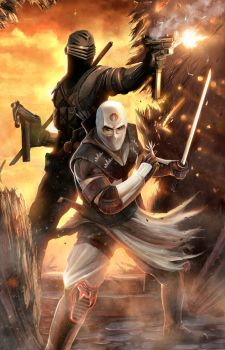 Snake Eyes and Storm Shadow - by DanLuVisiArt
