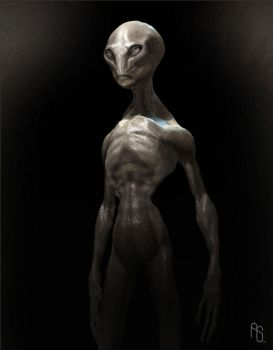 Harvey The Alien by aaronsimscompany