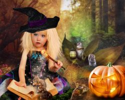 Sweet Forest Halloween by tinca2