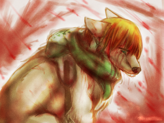 sad armin wolf by Ramencakeswithicing