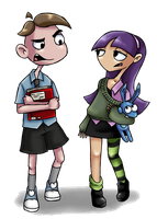 Edna -The breakout young Edna and Alfred by TheFreakyPanda