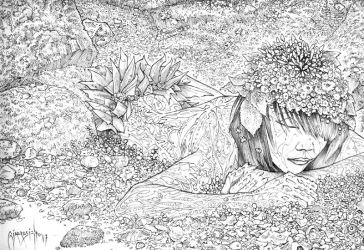 Keeper of the Leaves: Pencil (detail) by giadrosich