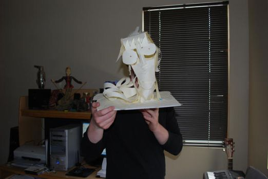 Paper Face Sculpture by bagbaggins