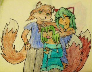 Foxarian Family by VeronicaPrower