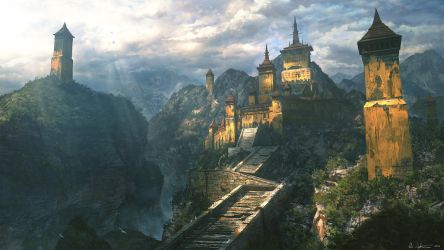 Mountain Fort by Vablo